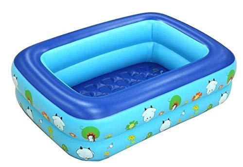 pinshun RechteckigE Familie Kinder Kinder aufblasbaren Pool Baby-Dusche nach Hause 120x90x35 Outdoor @ blau aufblasbares Planschbecken