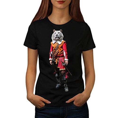 Tiger Ritter Cool Komisch Kostüm Katze Damen M T-shirt | (T Cyclops Shirt Kostüme)