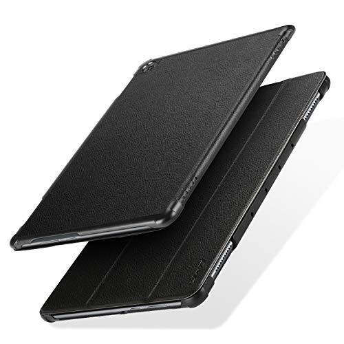 JundD Kompatibel für Huawei MediaPad M5 Lite 10 Hülle, Huawei MediaPad M5 Lite 10 inch Heavy Duty Schutz Stoßfest Case Cover mit Auto-Sleep/Wake Funktion - Schwarz
