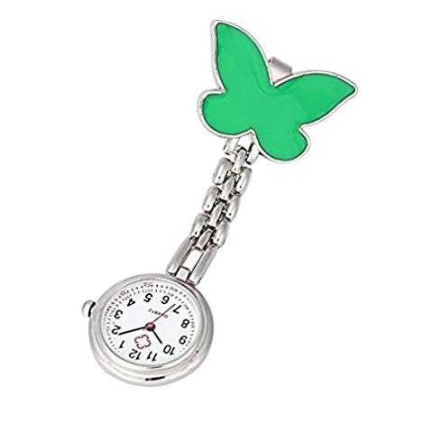 Brooch Pocket Watch,Omiky® Clip-on Nurse Watch with Lapel Hanging Butterfly