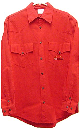 Modestone Men's Long Sleeve Fitted Western Hemd Fergome 38 Red (Ely Cattleman Shirt Western)
