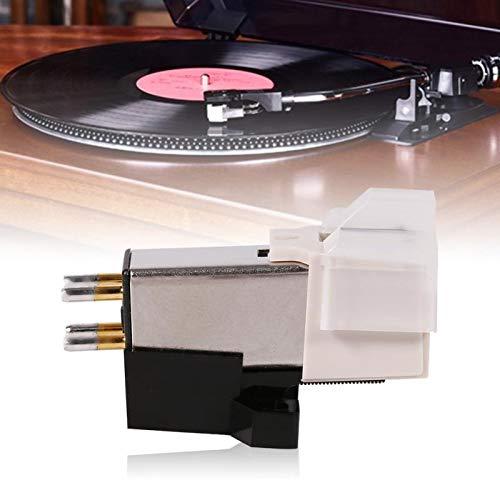 Generic YANFEN 1 Stück Plattenspieler Phonograph, Nadel-Tonabnehmer, Stylus bewegliche Magnetkartusche mit Befestigungsschrauben