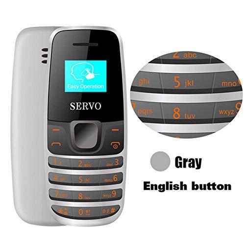 Roebii SERVO S09 Bluetooth Dialer Mini-Handys,Mini-Größe 0,66 Zoll winzigen Bildschirm GSM Low Radiation Dual-SIM-Bluetooth-Kopfhörer,Original 2 in 1 Handheld-Telefon-Headset(68 * 28,5 * 13,5-30 mm) (Großer Verizon-handys Bildschirm)