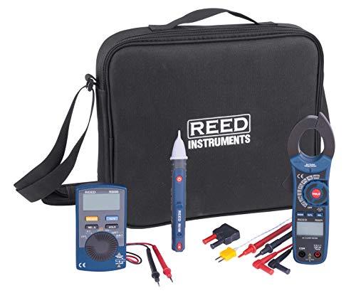 Reed st-electrickit Elektriker-Kit mit Durchgangsprüfer, Zangenamperemeter, Spannungsprüfer, Thermoelement-Sonde, Input Adapter, und Test führt