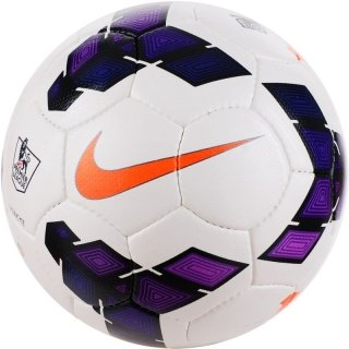 Nike Strike Football, Size 5 (White/Purple)  available at amazon for Rs.419