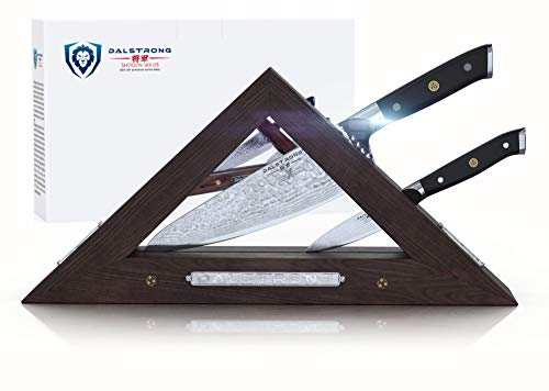 Fibrox-block (Dalstrong Messerset Block - Shogun Serie 2-teiliges Starter Set mit Trinity Aufbewahrungsblock - Für 4 Stück)