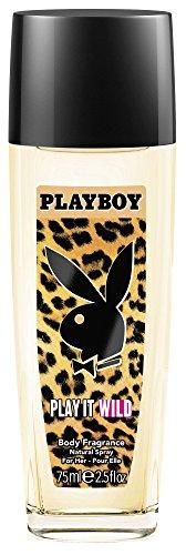 Playboy Play It Wild women Deo Natural Spray, 1er Pack (1 x 75 ml)