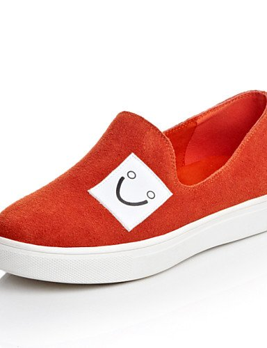 ZQ Scarpe Donna Di pelle/Scamosciato Piatto Plateau/Comoda/Punta arrotondata Mocassini Formale/Casual Nero/Rosa/Beige/Arancione , orange-us8 / eu39 / uk6 / cn39 , orange-us8 / eu39 / uk6 / cn39 black-us5.5 / eu36 / uk3.5 / cn35