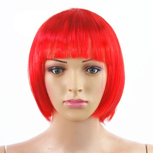 Damen Sexy kurze Bob Bobschnitt Fancy Dress Perücken -