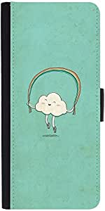 Snoogg Cartoon Cloud Designer Protective Phone Flip Case Cover For Apple Iphone 6S