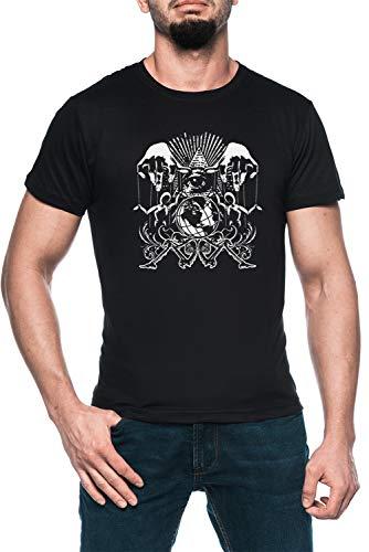 Illuminati Marionetas Hombre Negro Camiseta Manga