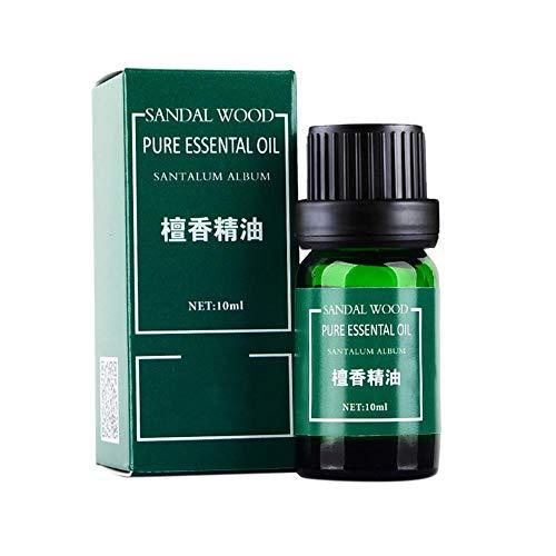 10ml Sandelholz-Öl erleichtern Reparatur,100% reines Ätherisches Sandelholz Öl Therapeutische Grad Duftöl Sandelholzöl für Aromatherapie, Massage, Wellness, Aroma Diffuser, hilft Schlaf -