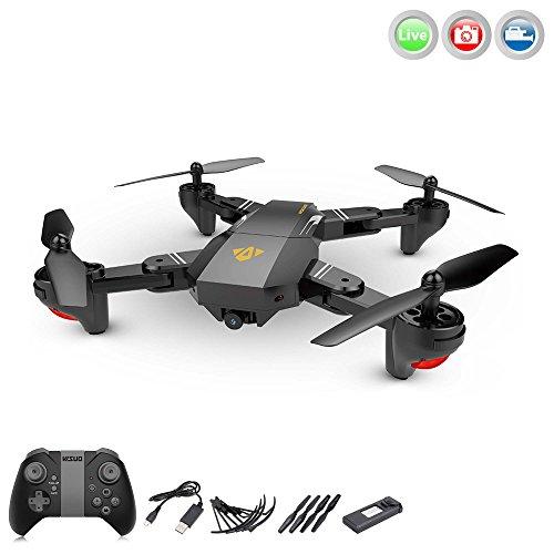 teuerter Quadcopter mit FPV Wifi 720p HD-Kamera mit Live Übertragung, Drohne Auto Abheben/Landen,Höhenbarometer, Rückholmodus, App-Control und weitere Funktionen, Crash-Kit (Ferngesteuerte Autos Mit Kamera)