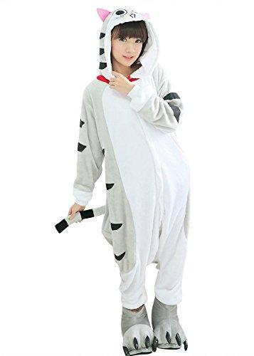 �m für Karneval und Halloween, Cosplay Zoo, Einheitsgröße grau Gattino chi's Large ()