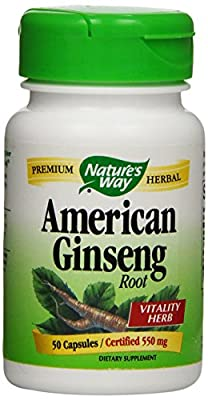 Nature's Way American Ginseng Root 50 Capsules by Nature's Way