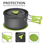 Aitsite Camping Cookware Kit Outdoor Aluminum Lightweight Camping Pot Pan Cooking Set for Camping Hiking 11