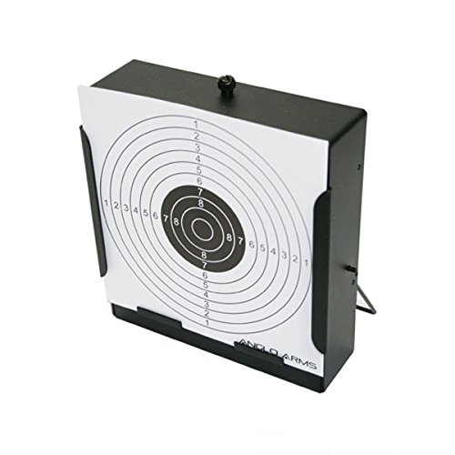 Anglo Arms Flat Pellet Trap Air Rifle Airsoft 10 Paper Target Black Metal