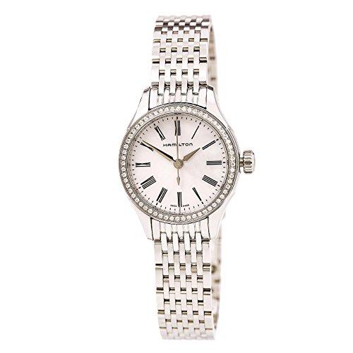 Hamilton H39211194Femme American Classic Valiant à quartz Blanc Mop Cadran Bracelet de montre de cristal en acier