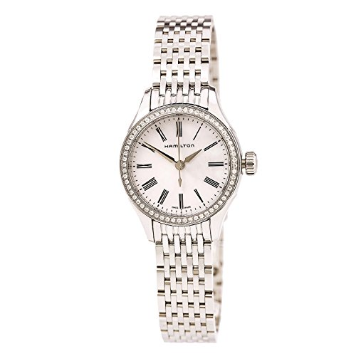 Hamilton H39211194 Women's American Classic Valiant Quartz White MOP Dial Steel Bracelet Crystal Watch