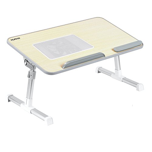 NO1# SLEEP SOLUTIONS G4RCE LAPTOP BED TRAY TABLE, ADJUSTABLE LAPTOP STAND, PORTABLE STANDING DESK, WITH FOLDABLE LEGS AND COOLING CPU FAN, FOLDABLE SOFA BREAKFAST TABLE, NOTEBOOK STAND READING HOLDER FOR COUCH FLOOR BEST SLEEP & DREAM REVIEWS BUY PRICE UK