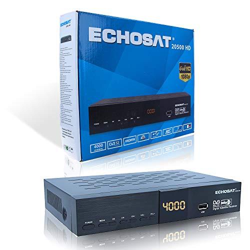 Echosat 20500 Sat Receiver - Digitaler HD Receiver FTA (HDTV, DVB-S /DVB-S2, HDMI, AV, 2x USB 2.0, Full HD 1080p, Digital Audio Out) [Vorprogrammiert für Astra Hotbird Türksat ]