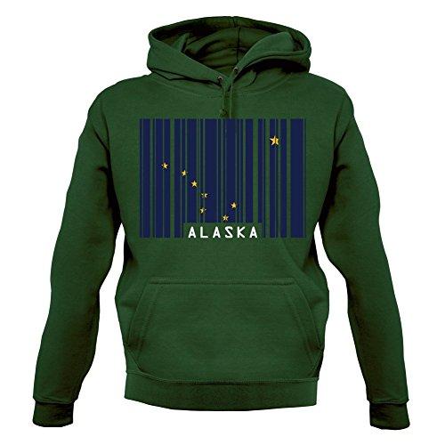 Alaska Barcode Flagge - Unisex Hoodie/Kapuzenpullover - Flaschengrün - XXL