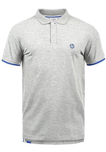 !Solid BenjaminPolo Herren Poloshirt Polohemd T-Shirt Shirt mit Polokragen, Größe:XL, Farbe:Light Grey Melange (8242)