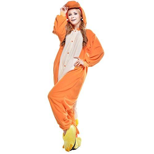 Kostüm Orange Jumpsuit Herren - Amurleopard Damen/Herren Jumpsuit Kostüm Schlafanzug Pyjamas Einteiler, Glumanda Orange, L( Körpergröße: 170-178 CM)