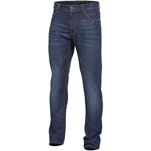 Pentagon Herren Rogue Jeans Hose Indigo Blue Größe W34 L34 (tag Größe 44/86) (Herren Ems Pant)