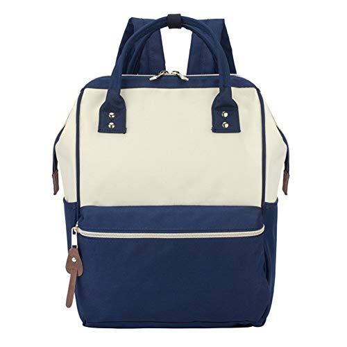 LIEOAGB Schultasche Rucksack Casual Travel Daypack Leichte Laptop-Rucksack für Jungen, Mädchen, Männer und Frauen-beigeblue-M -