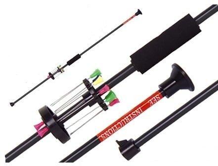 Zerlegbares Sport ALU G8DS® Präzisions Blasrohr +12 Dart Pfeile 100cm