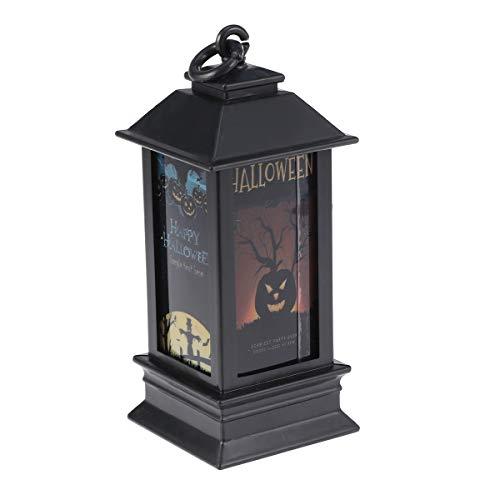 FENICAL 2pcs Halloween LED Nachtlicht Farbwechsel Laterne Vogelscheuche Muster Lampe für die Dekoration