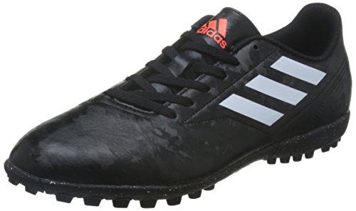 adidas Herren Conquisto II Turf Fußballschuhe, Schwarz (Core Black/FTWR White/solar Red), 42 2/3 EU