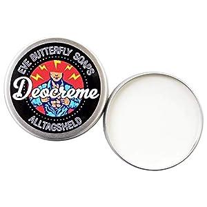 Deocreme Alltagsheld – Regular Size 85 g | aluminiumfrei, sportiv frischer Duft nach Limetten, blauer Agave & Vetiver, vegan