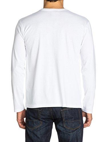 Quiksilver Herren Langarmshirt LS Bright D3 Weiß
