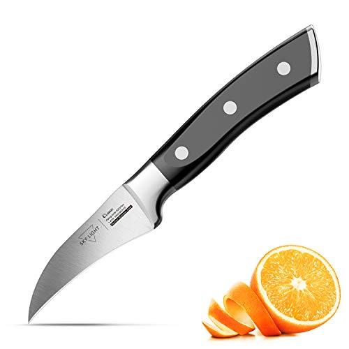 SKY LIGHT Schälmesser Obstmesser 7cm Klinge Gemüsemesser Küchenmesser Kochmesser Ergonomischer...