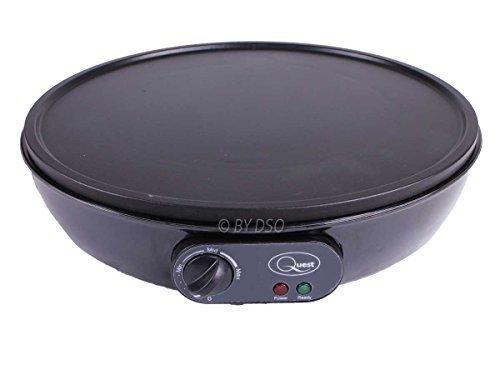Quest 1000 Watt Kuchen & Krepp Hersteller mit antihaftend Platte - Krepp-platten