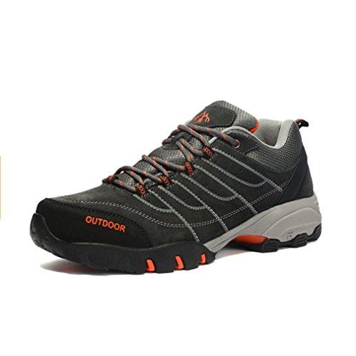 XIGUAFR Chaussures d' Escalade Hommes Hiver Chaussures de Randonnée à Pied Outdoor Chaussures Sports Classique Antidérapante
