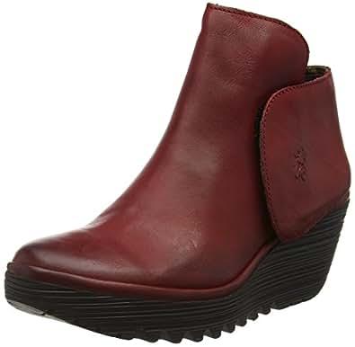 FLY London Damen Yogi Kurzschaft Stiefel, Rot (Red 062), 40 EU