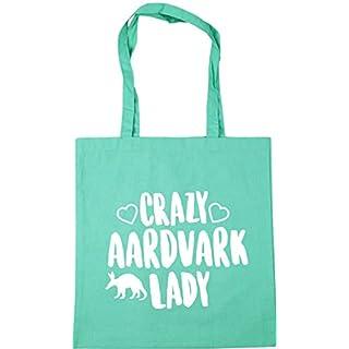 HippoWarehouse Crazy aardvark lady Tote Shopping Gym Beach Bag 42cm x38cm, 10 litres