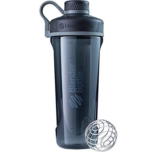 BlenderBottle Radian Tritan Wasserflasche/ Protein Shaker/ Diät Shaker/ Fitness Shaker / BPA frei / mit BlenderBall - Schwarz (940ml - skaliert bis 800ml) -