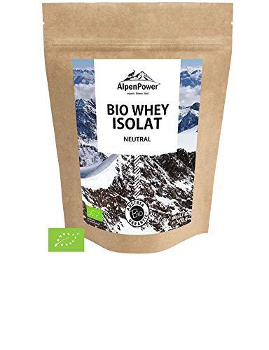 ALPENPOWER | BIO WHEY ISOLAT Neutral | Ohne Zusatzstoffe | Bio-Milch aus Bayern und Österreich | Ökologisch & nachhaltig | Hochwertiges Eiweiß | Low Carb | Organic Whey Isolate | 500 g