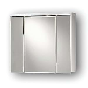 Spiegelschrank cosmo mit beleuchtung wei aqua suite for Amazon spiegelschrank