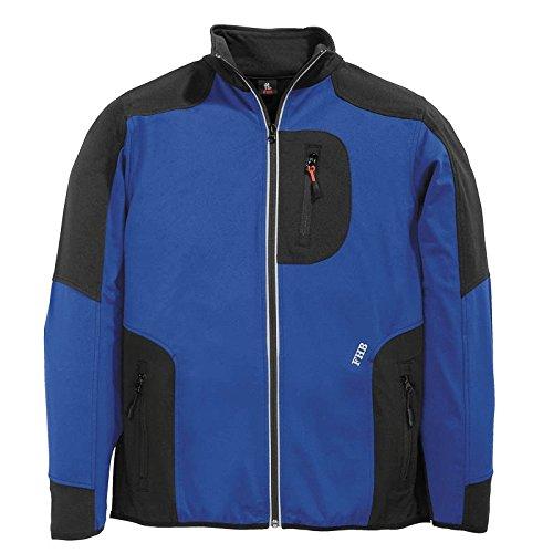 Preisvergleich Produktbild FHB Jersey-Fleece, Ralf, Größe L, royalblau / schwarz, 78461-3620-L