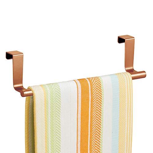 InterDesign Forma Toallero colgante para puerta, portatoallas pequeño en metal, cobre