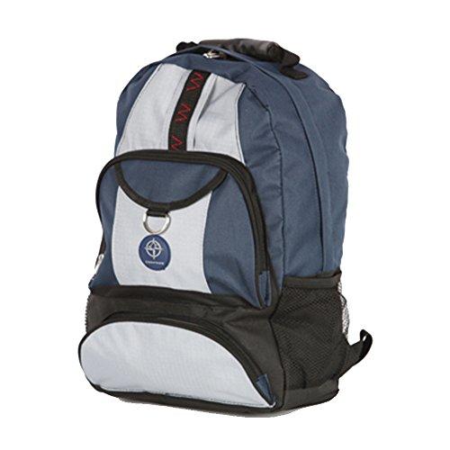 Friendz Trendz-Shield Maglia zip laterale tasche dei bagagli di Carry Daypack Zaino (black/navy/grey) black/navy/grey