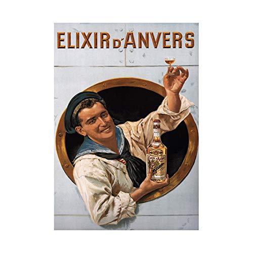 AD Liqueur Elixir Anvers Alcohol Herbal Antwerp B Framed Art Print B12X4199