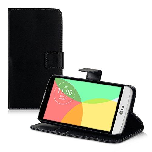 kwmobile LG L Bello Hülle - Kunstleder Wallet Case für LG L Bello mit Kartenfächern und Stand