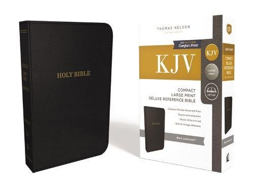 KJV, Deluxe Reference Bible, Compact, Large Print, Imitation Leather, Black, Red Letter Edition