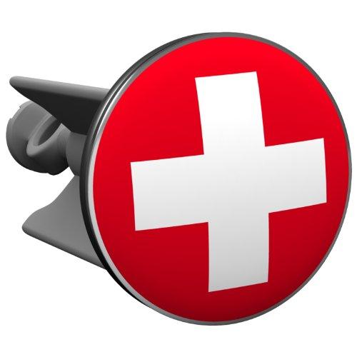 Plopp bonde Crois Suisse, pour lavabo, bonde, bonde Excenter, déversoir